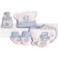 Baby 4 Pcs Gift Set Blue (Organic)