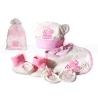 Baby 4 Pcs Gift Set Pink (Organic)