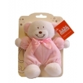 """Baby Rattle Bear 7"""" Pink"""