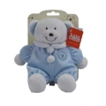 "Baby Rattle Bear 8"" Blue"