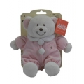 """Baby Rattle Bear 8"""" Pink"""
