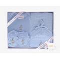 Baby Clothing Set - Blue Giraffe