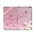 4pc Baby Clothing set - Pink Butterfly