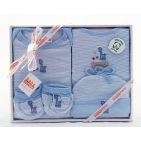 Baby 4 Pcs Clothing Set Blue (Organic)