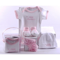 Baby 4 Pcs Clothing Set Pink (Organic)