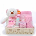 Baby Gift basket Tray Pink