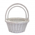 Willow basket White set of 2