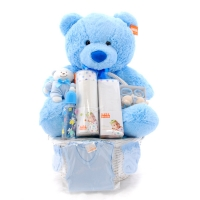 Baby Gift Basket  Blue