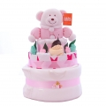Nappy Cake Bear Pink