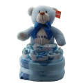 Nappy Cake Bear Blue